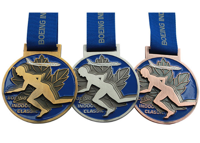 Round Copper Metal Award Medals Original Material Color Die Casting Process